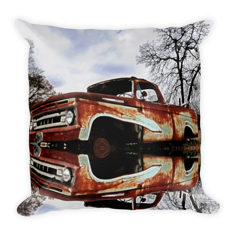 Parked on the Edge of Time Throw Pillow
