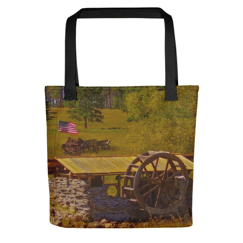 Water Wheel House Tote bag