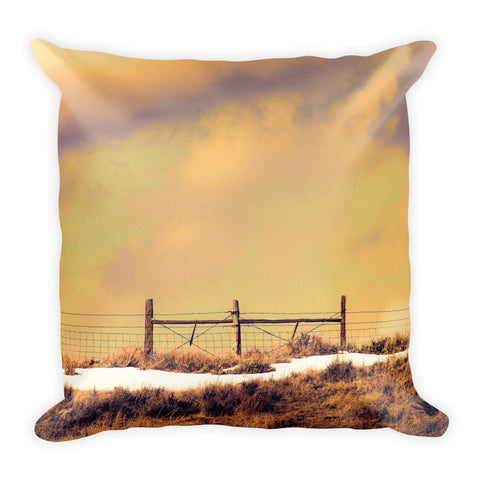 North Gate to Sunset Throw Pillow