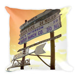 Wyoming Ranch Directions Throw Pillow