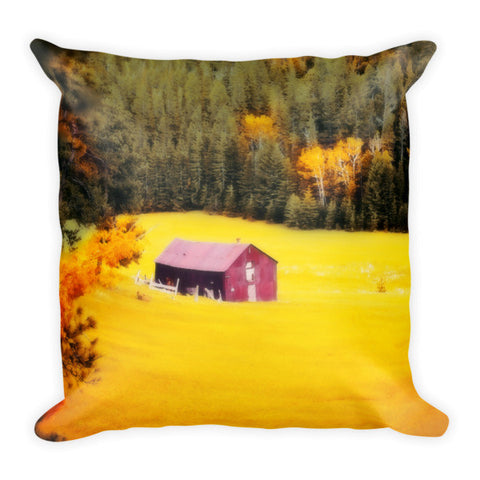 Fall on a South Dakota Meadow Throw Pillow