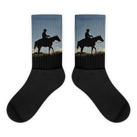 Sunset Ride - Black foot socks