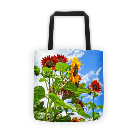 Rustic Sunflowers Tote bag