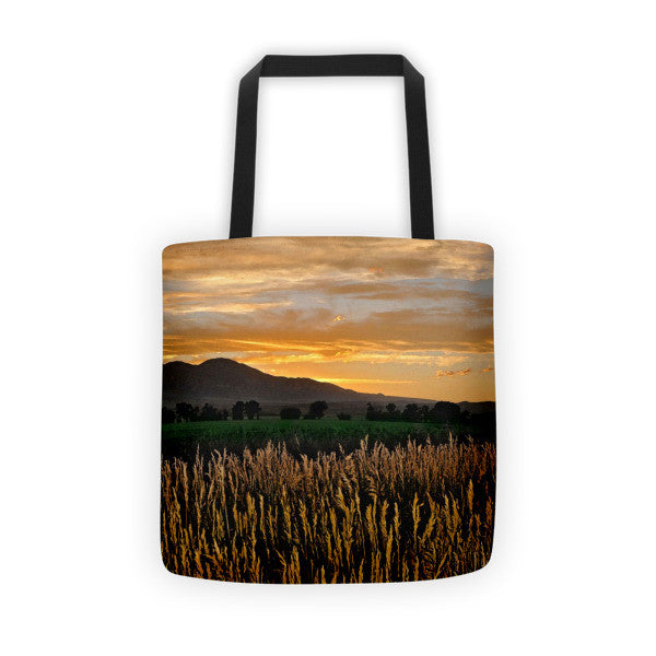 Sunset Over BearTooth Tote bag