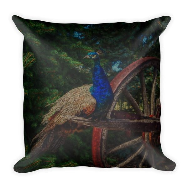 Peacock Vantage Throw Pillow