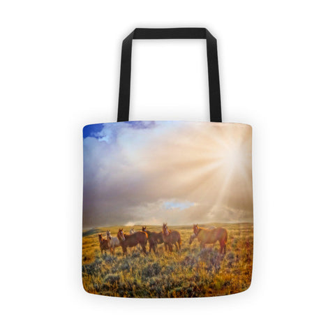 Led by the Light Tote bag