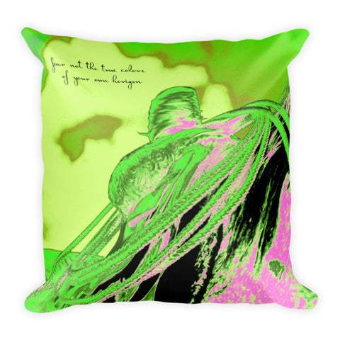 Saddle Electric Pink Quote Throw Pillow