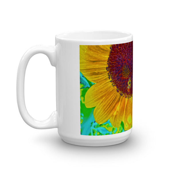 The Sunflower and The Bee Mug