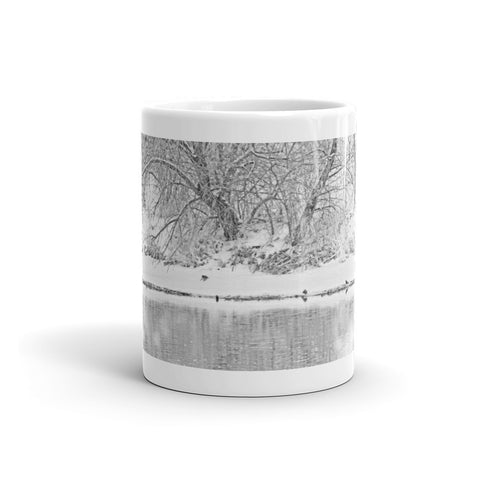 Winter Scene on the Platte River Mug