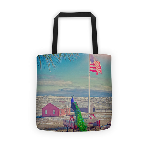Roger and The American Flag Tote bag