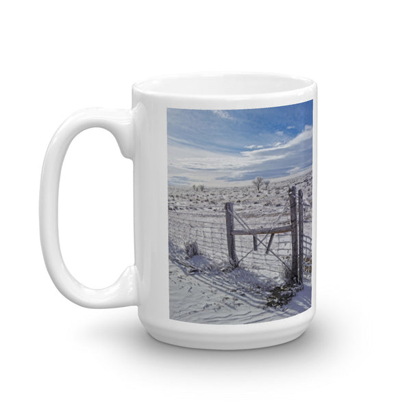 Winter Sunlight On The South Fenceline Mug