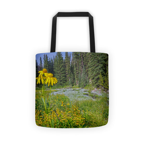 Gold and Pines Tote bag