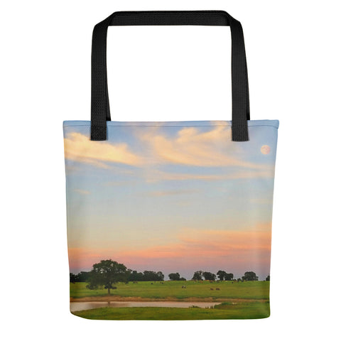 Ranch Setting with Moon Tote bag