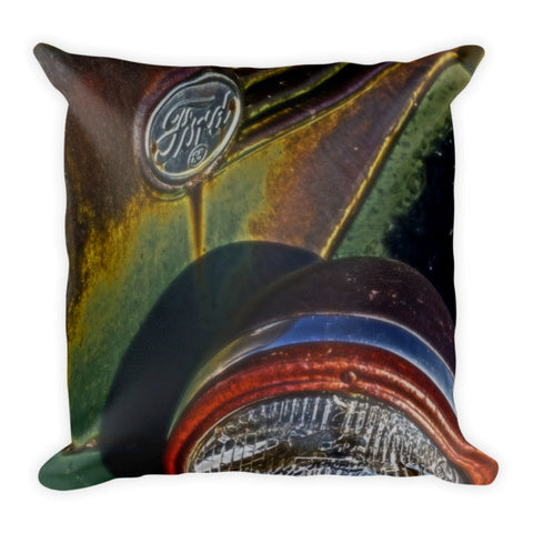 Ford Headlight Throw Pillow