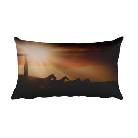 Caballo Sunset Rectangular Pillow