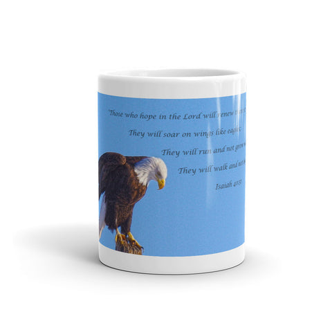 Preparing for Patriotic Flight Eagle Inspirational Mug