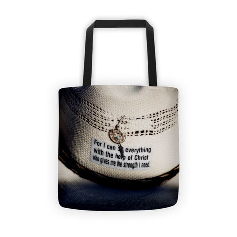 Christian Cowboy Tote bag