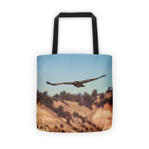 Have You Never Seen a Hawk on The Wing Tote bag
