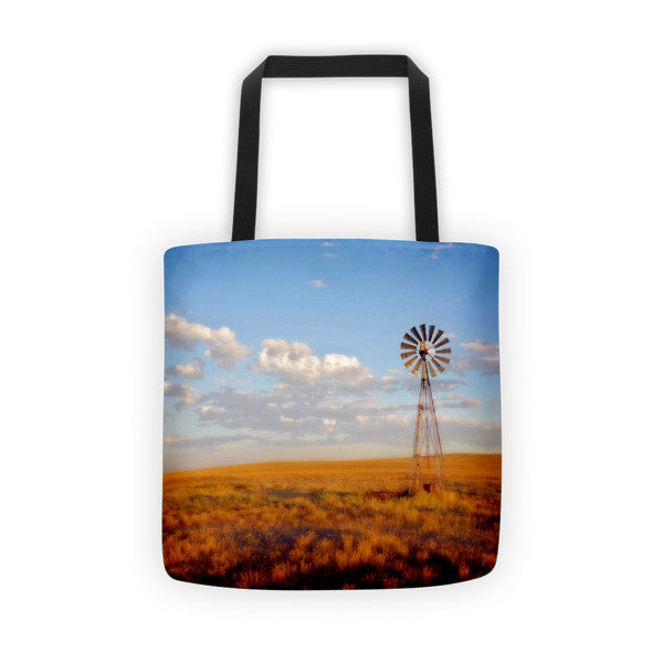 Windmill at Sunset Tote bag
