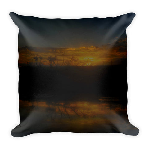 Reservoir At Sunset Throw Pillow