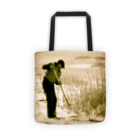 Breaking Wyoming Ice Tote bag