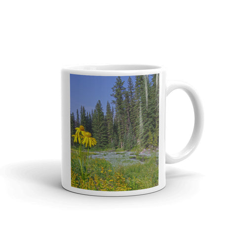 Gold and Pines Mug