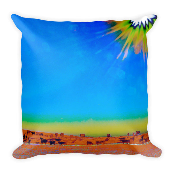 Hay Meadow to Water Throw Pillow