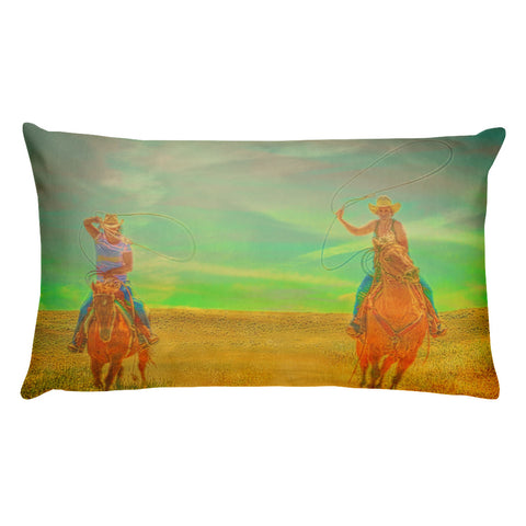 Ropin' Two Rectangular Pillow