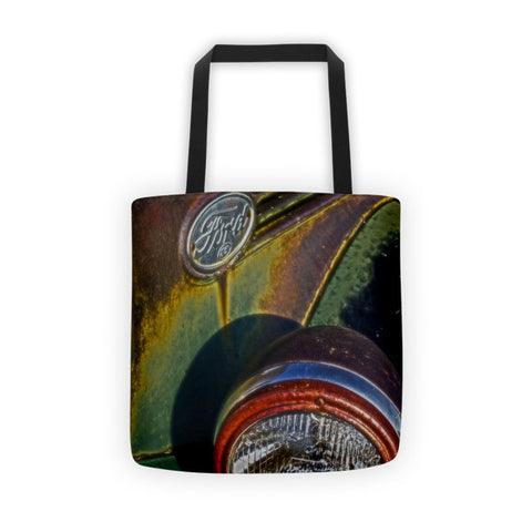 Ford Headlight Tote bag