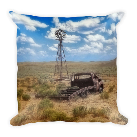 Windmill Over Lenzen Throw Pillow