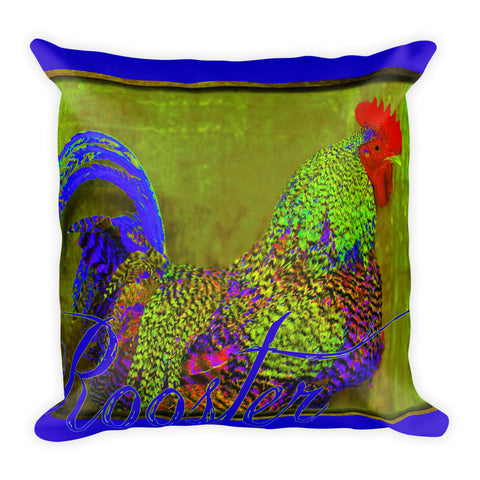Bert the Rooster Throw Pillow