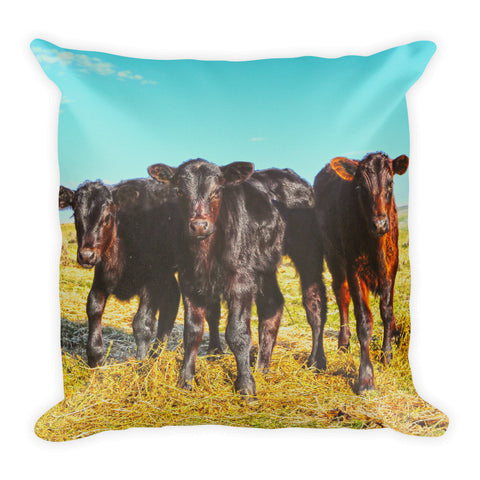 In the Mood for Hay Throw Pillow