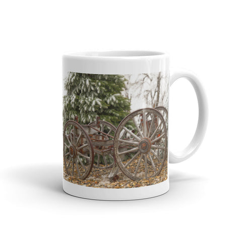 Wagon in Winter Mug
