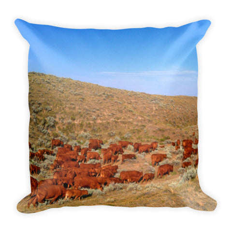 Wyoming Reds Throw Pillow
