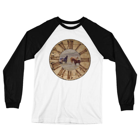 Long Sleeve Raglan Jersey Horse T-Shirt