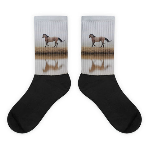 Mystical Beauty - Black foot socks