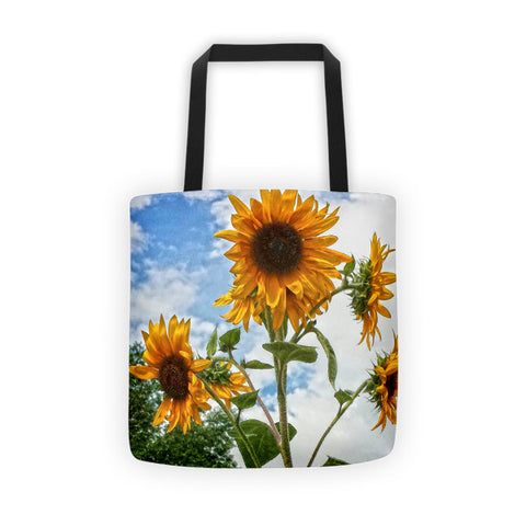 Sunflowers and Blue Tote bag
