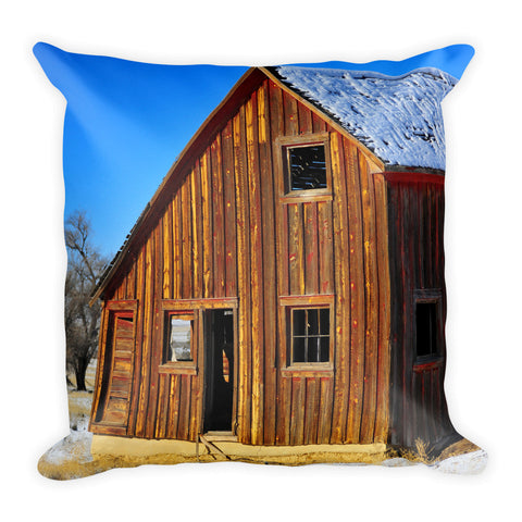 Sunset Barn Throw Pillow