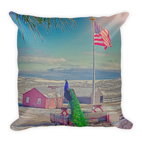 Roger and The American Flag Throw Pillow