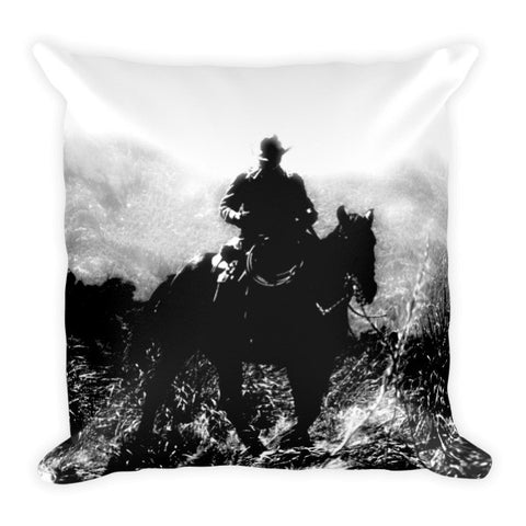 Cattleman Throw Pillow