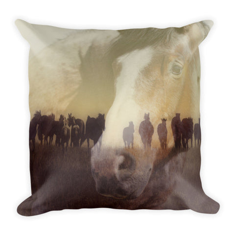 Watch Over the Last Run at Dusk Throw Pillow
