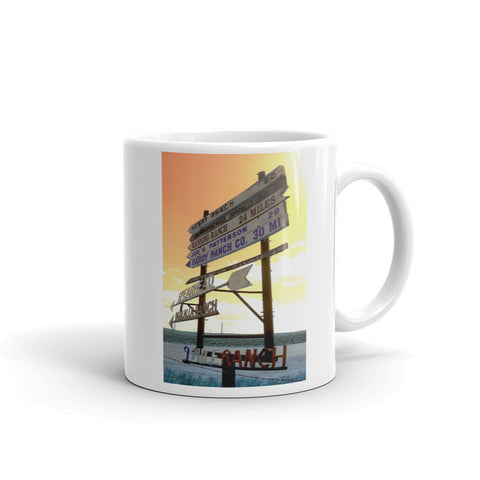 Wyoming Ranch Directions Mug