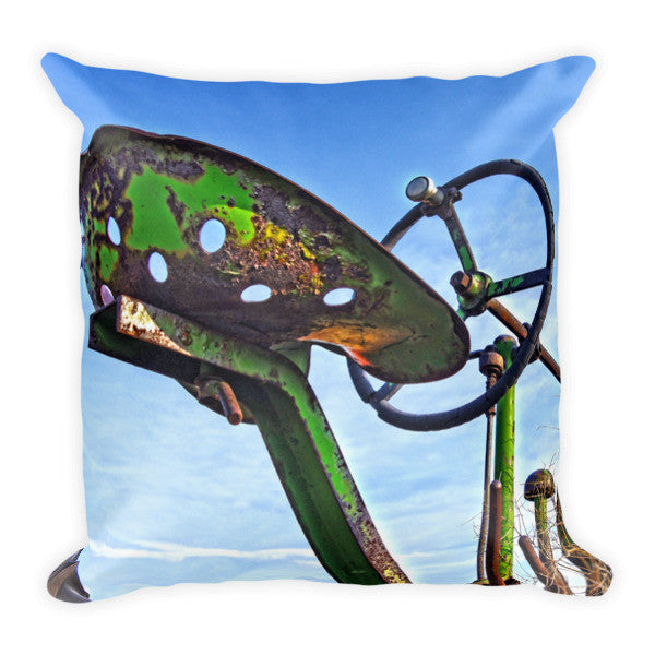 John Deere Seat Throw Pillow