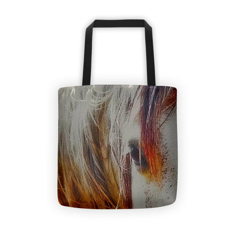 Retro Sunlight and Grey Tote bag