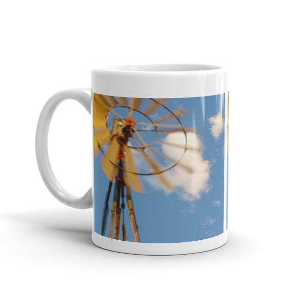 Red Wind Windmill Mug