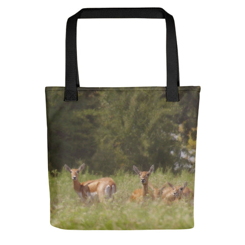 Black Buck Doe in a Row Tote bag