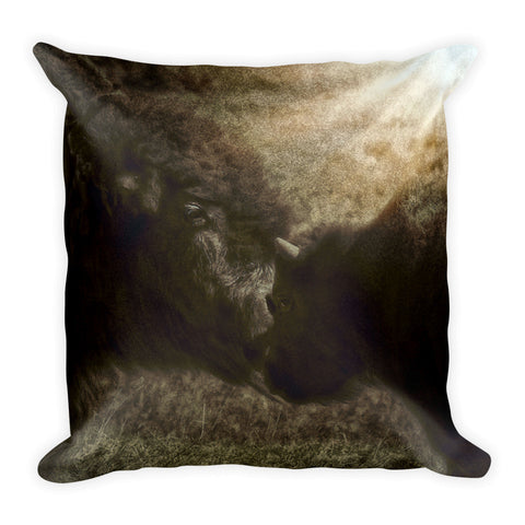 Buffalo Love Throw Pillow