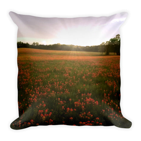 Paintbrush on Gods Canvas Throw Pillow