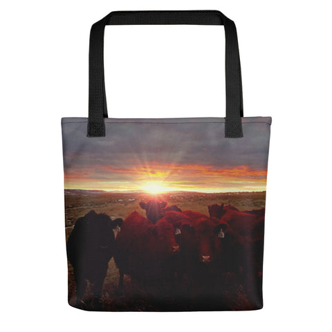 Winter Sunset at Night Feed Tote bag
