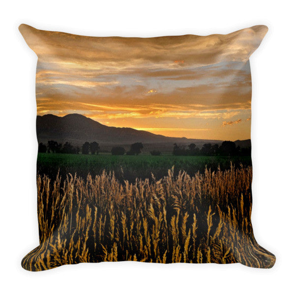Western Skies at Sunset Throw Pillow